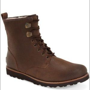 Ugg Hannen Leather Plain Toe Waterproof Boots